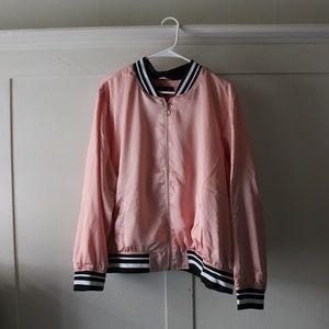 New Look Pink Satin Bomber Jacket